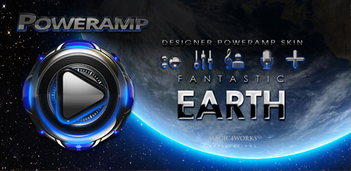 Poweramp skin Earth v2.03