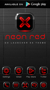 Poweramp Widget NEON RED v2.06-build-206