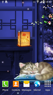 Sleeping Cat Live Wallpaper HD v1.0.3