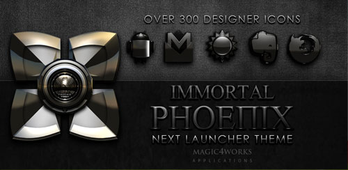 Next Launcher Theme Phoenix v6.40