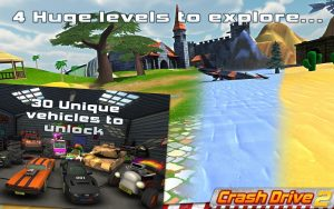 تصویر محیط Crash Drive 2: 3D racing cars v2.54