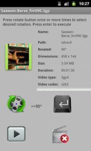 تصویر محیط Fast Video Rotate Trial v2.1