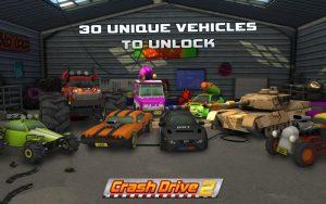 تصویر محیط Crash Drive 2: 3D racing cars v3.70