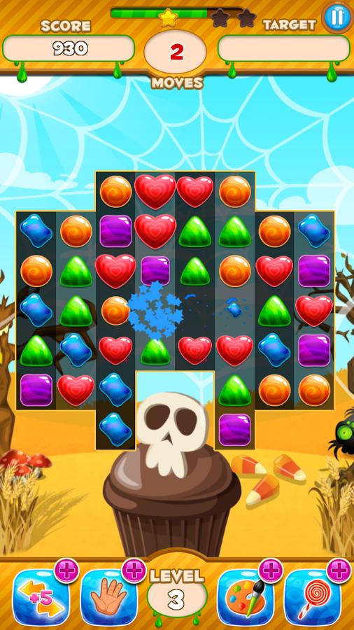 Halloween Candy Jewel: Match 3 v1.1
