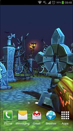 Halloween Cemetery 3D LWP v1.0