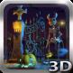 Halloween Cemetery 3D LWP789