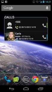 Call History Widget v2.1.1