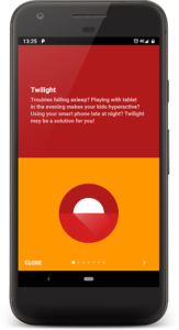 تصویر محیط Twilight: Blue light filter v9.9 build 319