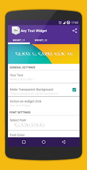 Simple Text Widget (Any Text) Full v3.1