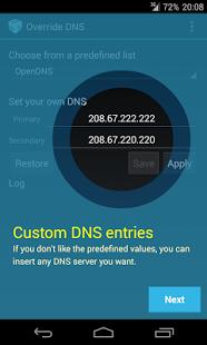 Override DNS (a DNS changer) v5.1.2