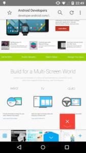 تصویر محیط Sleipnir Mobile – Web Browser v3.5.21