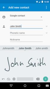 تصویر محیط Google Handwriting Input v1.9.3