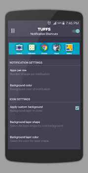 TUFFS Notificaiton Shortcuts FULL v3.2
