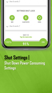 تصویر محیط ShutApp – The Real Battery Saver v3.0