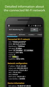 تصویر محیط Wi-Fi Monitoring Pro v2.5.2