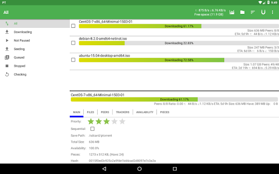 PTorrent Pro – torrent application v1.7.6