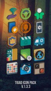 تصویر محیط Tigad Pro Icon Pack v2.8.6