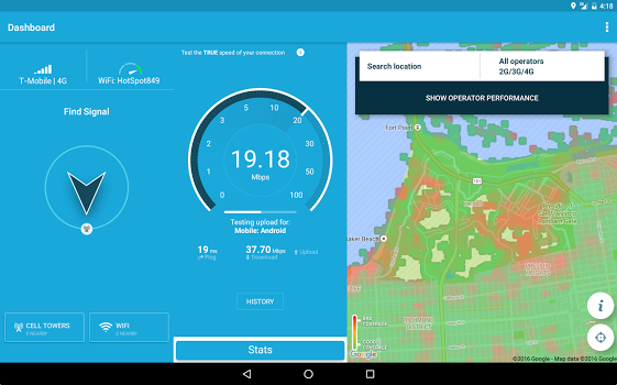 ۴G WiFi Maps & Speed Test. Find Signal & Data Now v5.54.1
