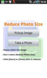 تصویر محیط Reduce Photo Size 1.0.26