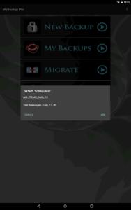تصویر محیط My Backup Pro v4.7.1