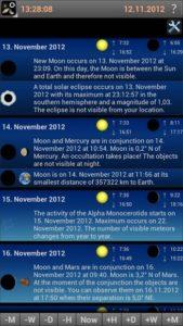 تصویر محیط Mobile Observatory 2 – Astronomy v2.75d