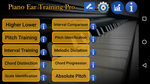 تصویر محیط Piano Ear Training Pro v107