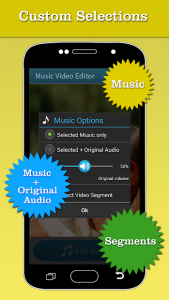 تصویر محیط Music Video Editor Add Audio v1.44
