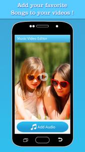 تصویر محیط Music Video Editor Add Audio v1.44