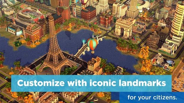 دانلود بازی استراتیژک سیم سیتی اندروید SimCity BuildIt v1.26.8.82216