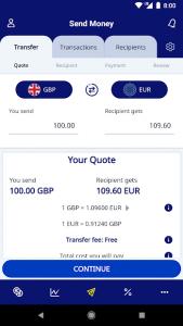 تصویر محیط XE Currency Converter & Money Transfers Pro v6.5.6