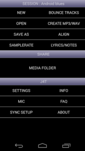 تصویر محیط J4T Multitrack Recorder v4.68