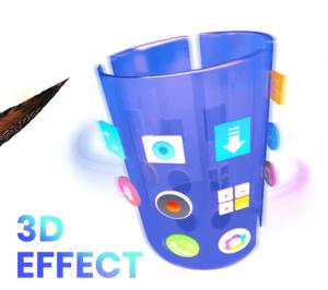 تصویر محیط CM Launcher 3D Pro v5.74.1
