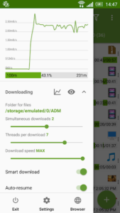 تصویر محیط Advanced Download Manager Pro v10.3 build 100300