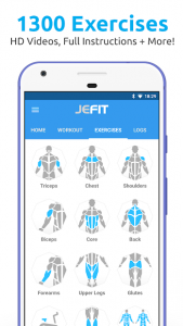 تصویر محیط JEFIT Workout Tracker, Weight Lifting, Gym Log App v10.36