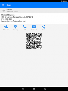 تصویر محیط QR & Barcode Scanner PRO v2.0.8 build 50