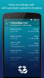 تصویر محیط Hi-Q MP3 Voice Recorder (Pro) v2.6.2