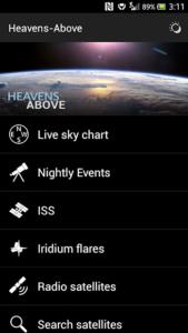 تصویر محیط Heavens-Above Pro v1.65