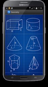 تصویر محیط Geometry Calculator v2.6.1