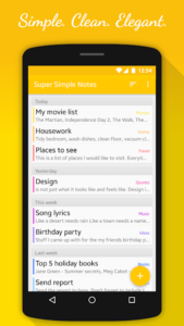 تصویر محیط Super Simple Notes v1.5.1