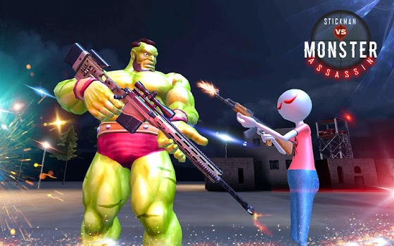 American Monster vs Stickman Sniper Modern Combat v1.1.2