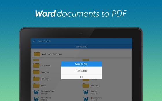نرم افزار ویرایشگر پی دی اف PDF converter pro & PDF editor - pdf merge v4.8.2