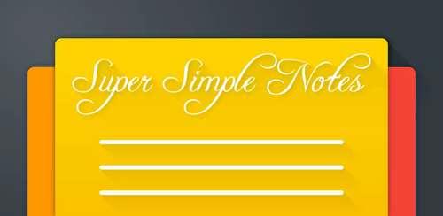 Super Simple Notes v1.2.0