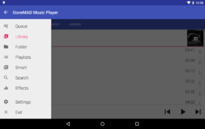 تصویر محیط GoneMAD Music Player v2.2.22