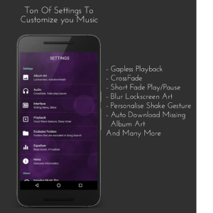 تصویر محیط Impulse Music Player Pro v3.0.0