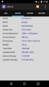 تصویر محیط CPU-Z v1.39
