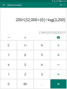 تصویر محیط ClevCalc – Calculator v2.16.13