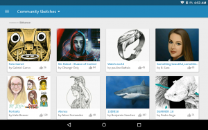 تصویر محیط Adobe Photoshop Sketch v2.2.308