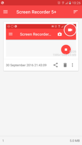 تصویر محیط Screen Recorder – Record your screen v10.3