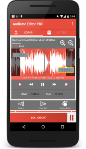 تصویر محیط MP3 Cutter Ringtone Maker PRO v5.1