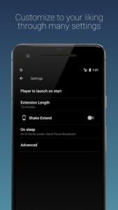 تصویر محیط Sleep Timer (Turn music off) v2.5.5